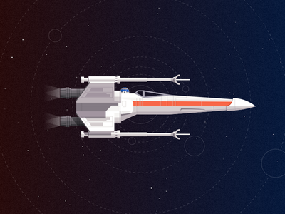 X-wing fighter  inkscape vector star wars x-wing illustration fan art space space ship r2d2 spaceship fighter sci-fi starfield
