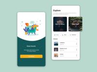 Music App design colorful ui figma
