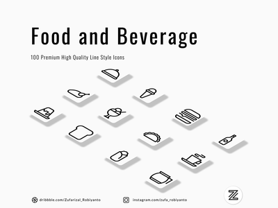 Food and Beverage Pictograms user interface restaurant food and drink beverage food line outlines outline pictogram set iconography system icon illustration icon designer pictogram icon design icons icon set icon