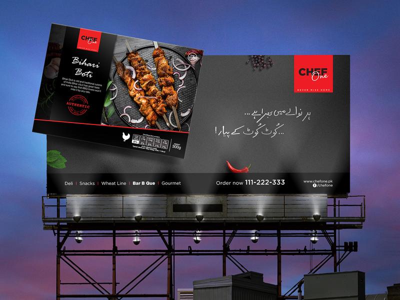 Chef One Hoarding/billboard graphic design billboard design hoarding