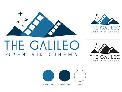 The Galileo Open Air Cinema branding identity design logo design