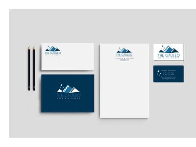 The Galileo Open Air Cinema Stationery Design identity design branding stationery design logo design