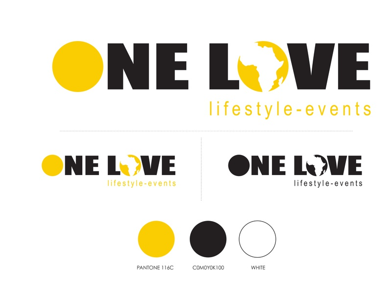 One Love Events logo identity design logo design branding