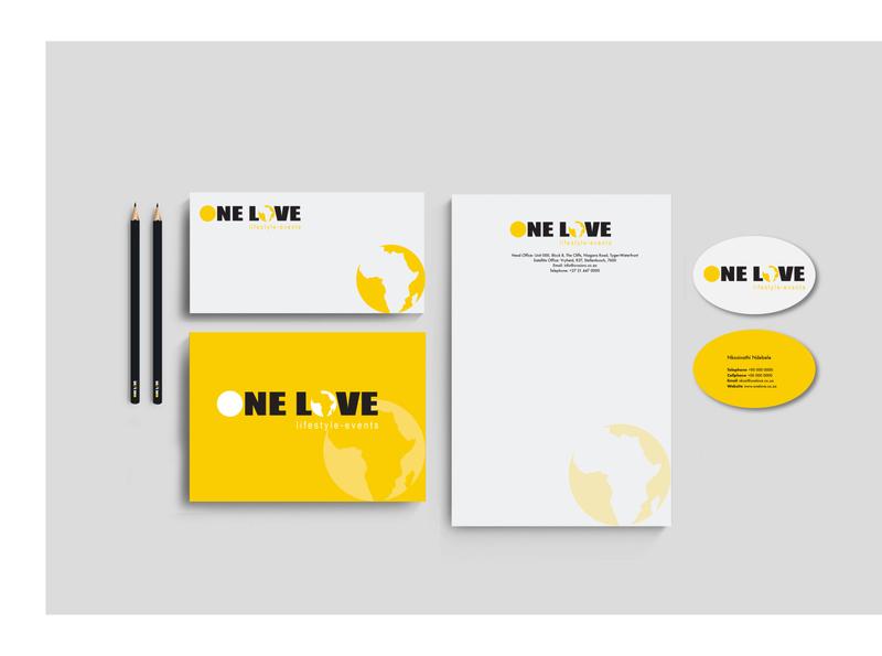 One Love Stationery logo design stationery design logo identity design branding