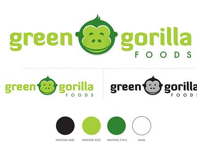 Green Gorilla Logo Design logo logo design identity design branding