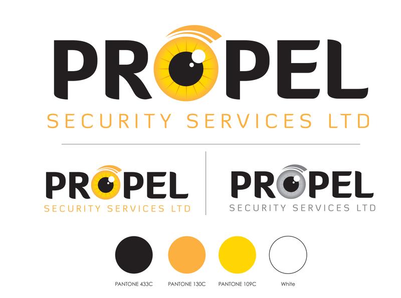 Propel Security Services Logo Design logo design logo identity design branding