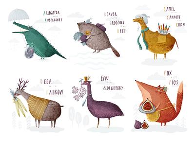 Alphabet A B C D E F alphabet alligator beaver camel deer emu fox