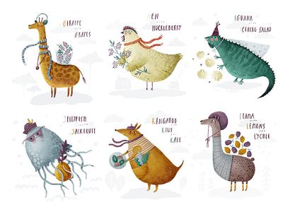 Alphabet G H I J K L alphabet giraffe hen iguana jellyfish kangaroo llama