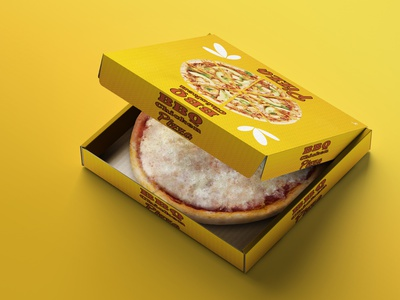 Pizza Label Design / Product packaging Design pizza box design pizza hut pizza box creative design product packaging design productdesign