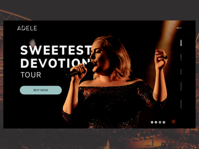 Landing Page | Daily UI | 003 tickets call to action buynow music art adele landing page design landingpage dailyui003 braziliandesigner dailyui uidesign design adobexd