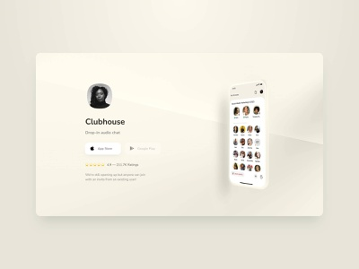 Clubhouse Website app website web minimal ui super notion clubhouse