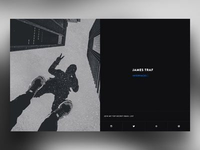 Personal landing page landing page minimal photography website personal