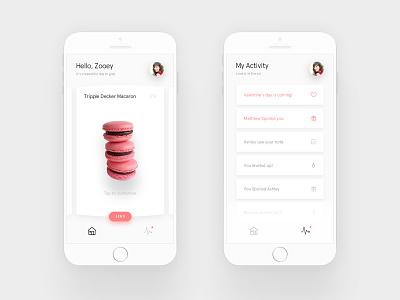 Spoil app coral icons simple minimal cards ui mobile app spoil