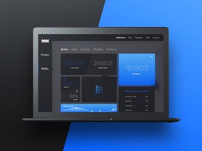 Analytics Dashboard blue black clean ux ui design dashboard deximal