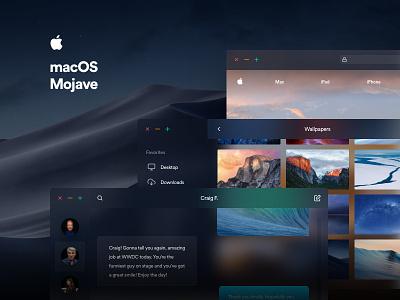 macOS Mojave dark blur ui apple redesign mojave osx mac