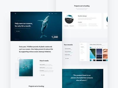 Vera simple minimal clean webdesign website landingpage vera