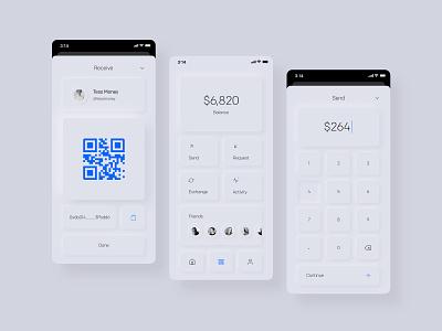 Digital Currency App ui neumorphic neumorphism minimal app cryptocurrency digital currency