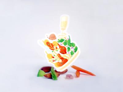 Krishna Spaghetti Day Sticker Design