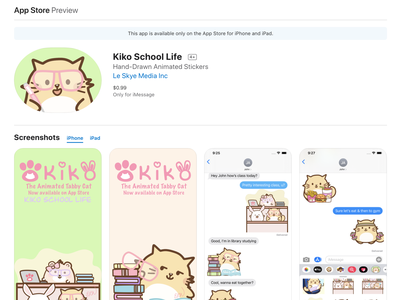Kiko School Life 2020 Stickers by imPAW Universe App Store handmade pets animated animated gif friends teddy bear bear rabbit bunny stickers stickers for imessage ios app branding cartoon illustration cartoon character cats artwork comic cartoon cat