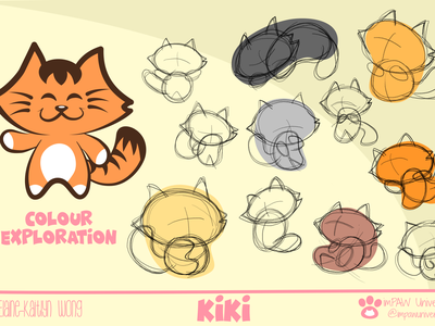 Kiki Character color exploration inspiration vector creative branding design inspiration design doodle art sketches comics concept design mobile colors painting cartoon illustration graphic design 2d character 2d art cats concept art