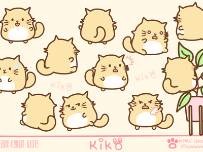 Kiko character expressions designs kitty cat kitty illustration concept character comic artwork cute art facial expressions character design illustration digital expression digital illustration digital art cats cat cartoon character brand brand identity concept design concept art concept