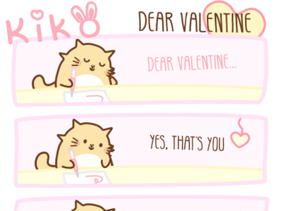 "Kiko ""I Love You"" Happy Valentine's Day 2021 digital art pet sweetheart kawaii art cute art branding comic art digital illustration cartoon comic cartoon character illustration pets cats in love couplesgoals couples love vday valentines day"