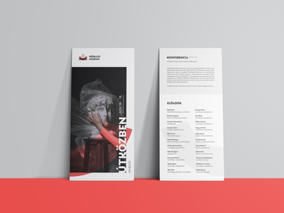 Hungaryan Ethnographic Museum brand invitation card branding vector tipography layout design graphic design