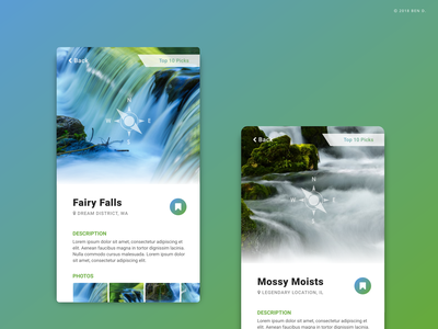 Watery Sights To See photo app photo hiking spot holiday sightseeing sights sight vacation location green blue waterfalls waterfall water