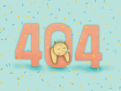 congrats! u r wrong! confetti page not found illustration 404 cute