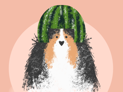 melancholy? i thought u said melon collie ... soul food right in the feels illustration fun melon dog cute mood melancholy melon collie