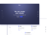 Website for development company