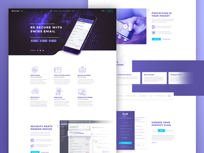 ProtonMail Landing Page Concept protection secure mail homepage landing page design b2c interface web app ux ui