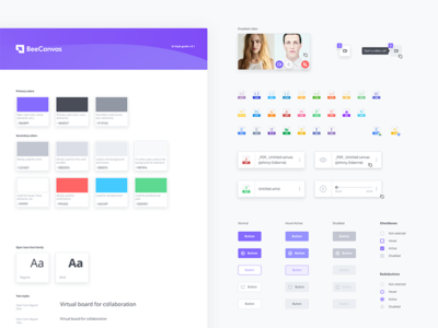 Product UI Style Guide modern management cooperation product business b2c interface saas desktop app ux ui