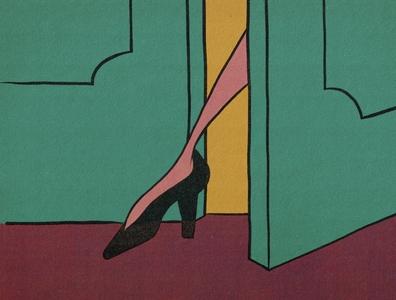 The Art of Seduction vintage illustration sex sells high heels truegrittexturesupply illustration art classic illustration cartoonist cartooning cartoon illustration cartoon