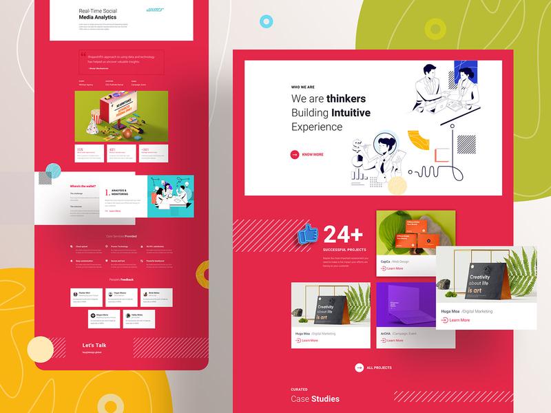 Digital Marketing Layouts for SP Page Builder Pro feature portfolio agency clean minimal design flat trending marketing digital ui  ux webdesign ux ui digital marketing