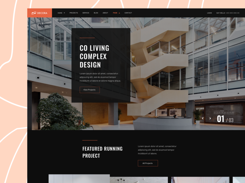 Interior Designer Layouts for SP Page Builder Pro website trending ui trending agency website personal minimal portfolio ux designer interior uidesign agency