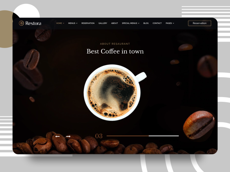 Restaurant / Coffee Shop Template Design ux clean minimal website redesign restaurants coffee uiux ui agency coffeeshop restaurant