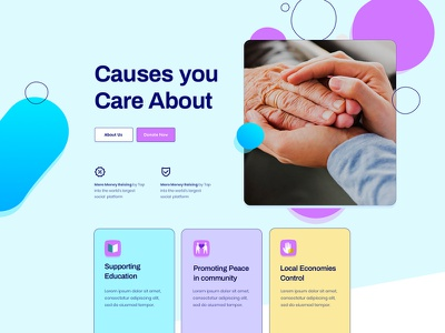 Fundraising-Layouts for SP Page Builder Pro uiux layout trend uidesign help people old campaign crowdfunding pledge donation fundraising charity agency website concept logo ux ui