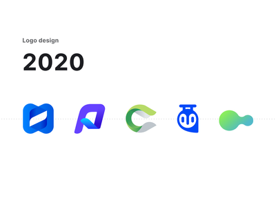 Logo collection 2020 typogaphy color brand identity clean vector icon web app ui 2021 2020 trend ad marketing visual design logo branding 2020 design 2020
