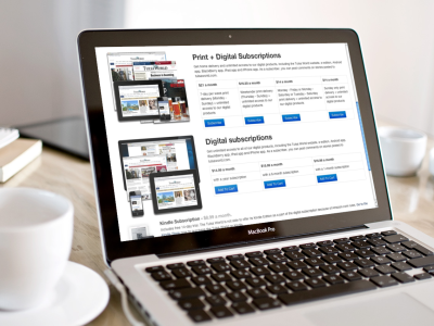 Tulsa World Subscribe tulsa world web design responsive design