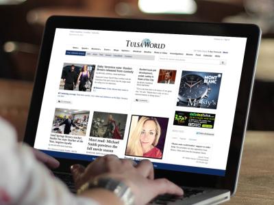 Tulsa World Home Page tulsa world web design responsive design