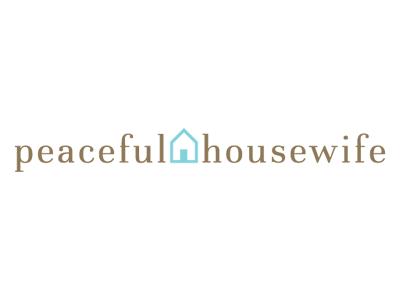 The Peaceful Housewife logo illustrator