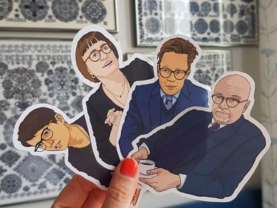 Politicianstickers politics stickers portraits illustration