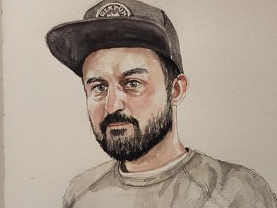 Hey you portrait sketch watercolor watercolour illustration