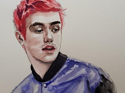 Peep portrait sketch watercolor watercolour illustration