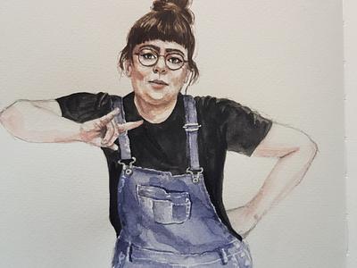 Just do it aquarell portrait sketch watercolor watercolour illustration