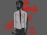 Bloody street artist