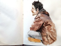 Homeless man in San Francisco
