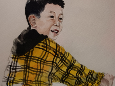 Trainee portrait sketch aquarell watercolour watercolor illustration