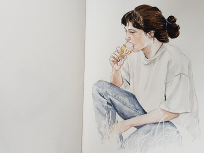 Nicecream portrait sketch watercolor watercolour illustration